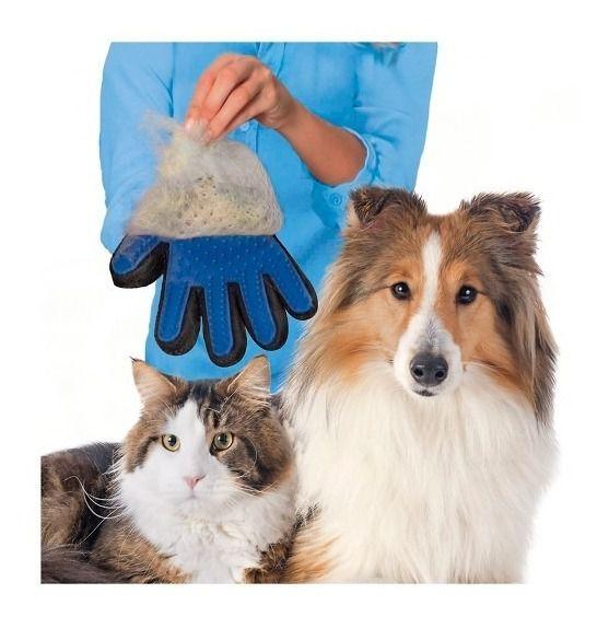 Luva Nano Magnética Tira Pelos Para Cachorro Cães Gatos