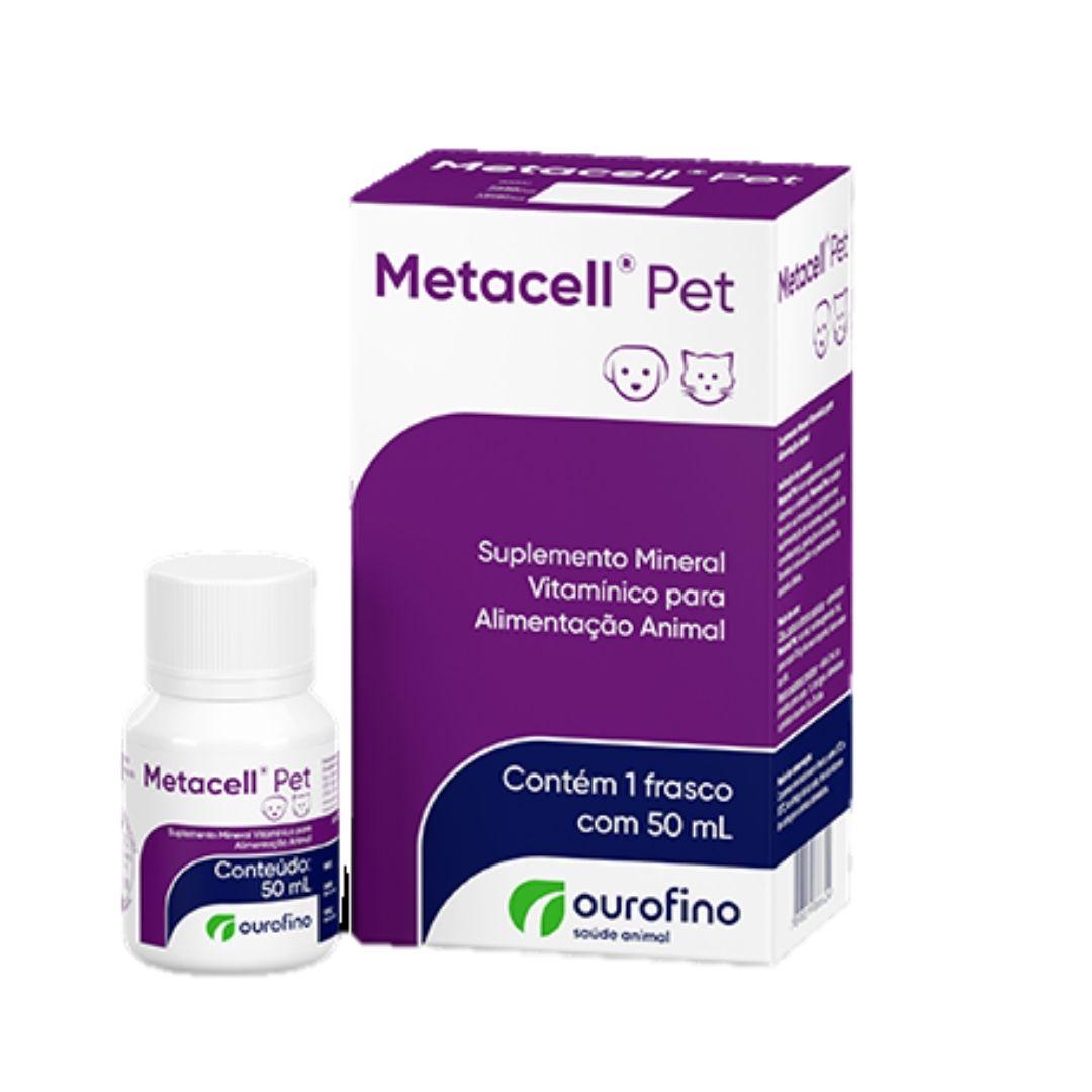 Metacell Pet 50ml Ouro Fino Suplemento Vitamínico Cão E Gato