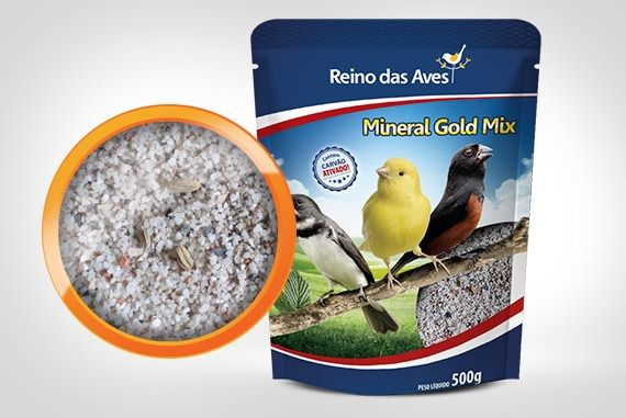 Mineral Gold Mix 500gr - Reino Das Aves 3 Unidades