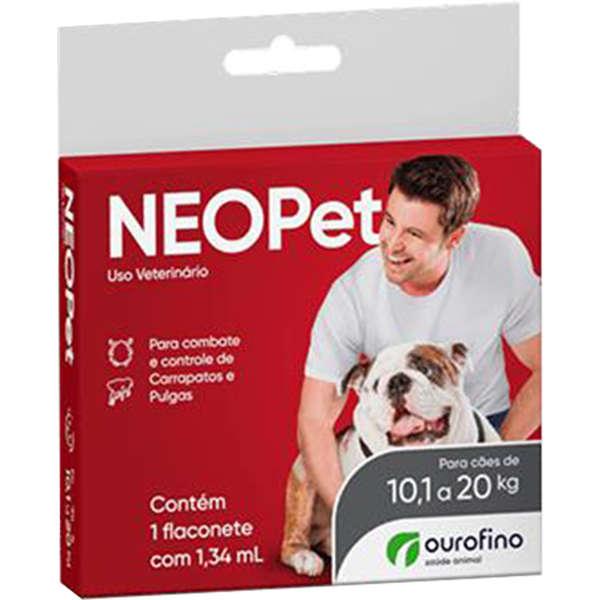 Neopet Ourofino Para CÃES de 10 a 20 kg.+ shampoo pro canine