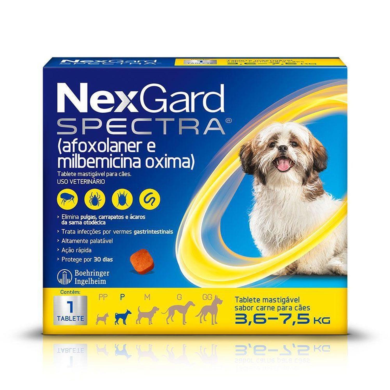 Nexgard  spectra  3,6 a 7,5 produto original comprimido carrapato pulga verme e sarna