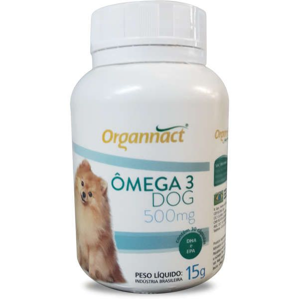 Organnact Ômega 3 Dog 500mg