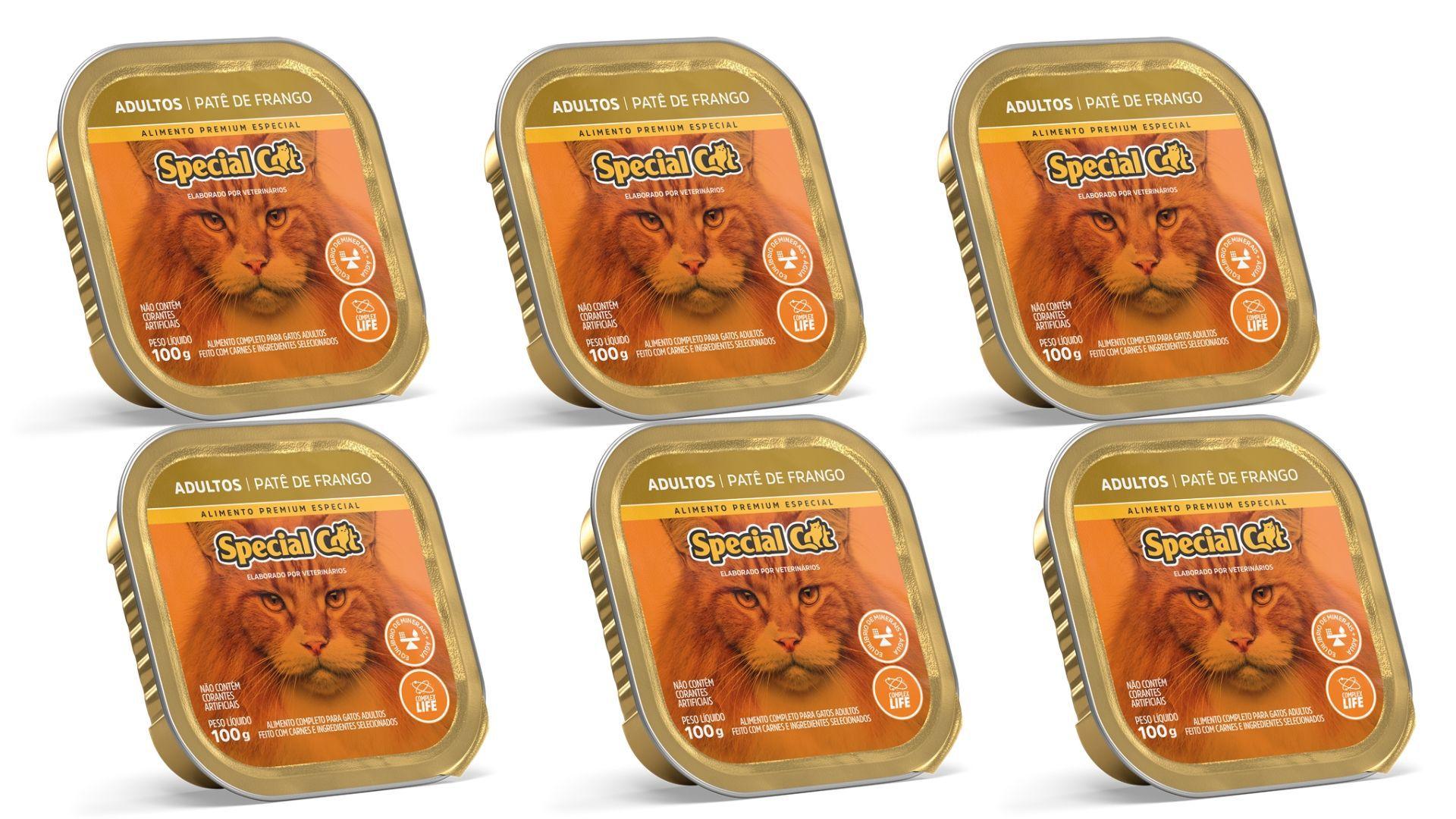 Pate Special Cat FRANGO Alimento Completo 6 Unidades