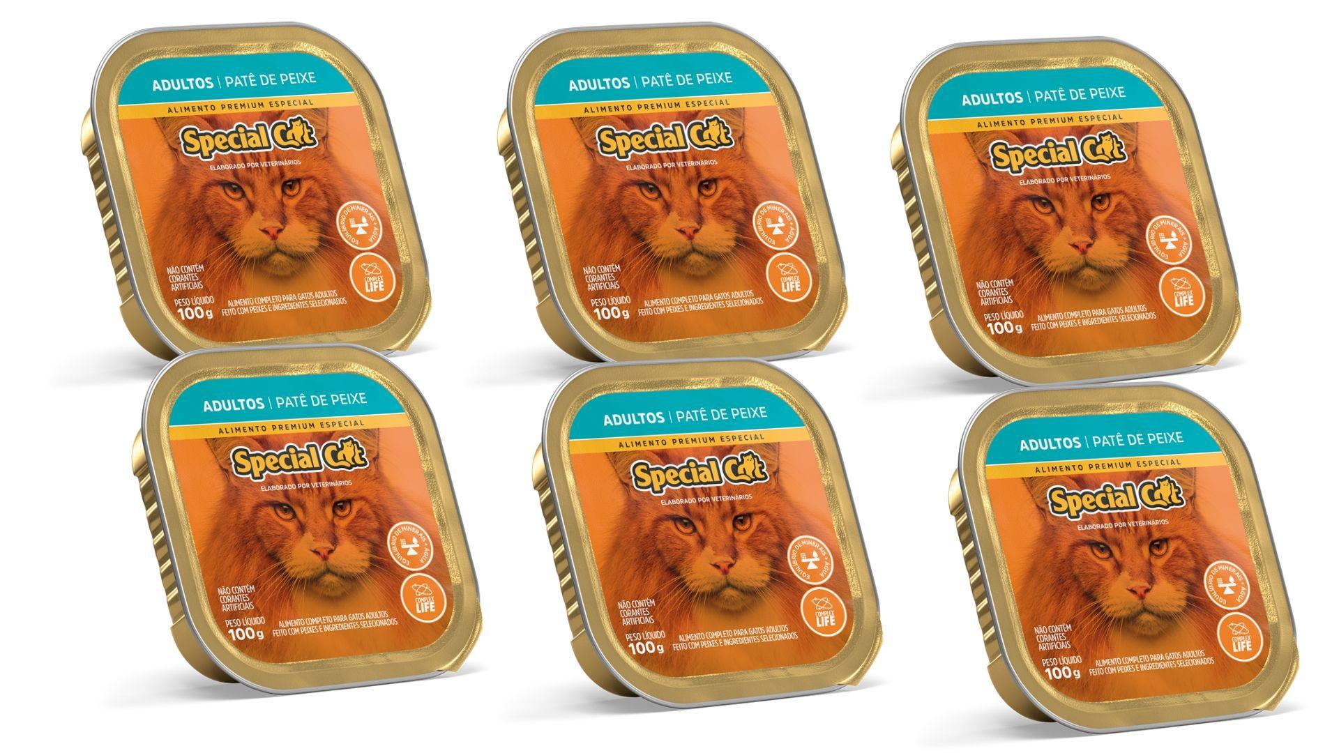 Pate Special Cat PEIXE Adulto Alimento Completo 6 Unidades com 100 gramas cada