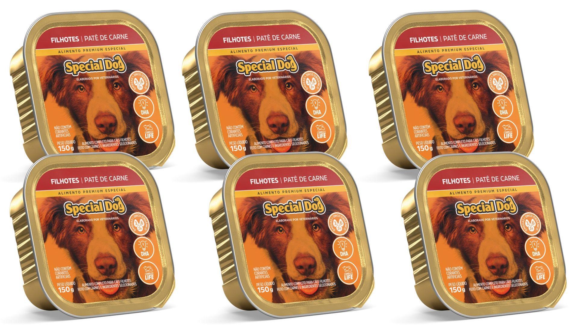 Pate Special Dog Carne FILHOTE Alimento Completo 6 Unidades