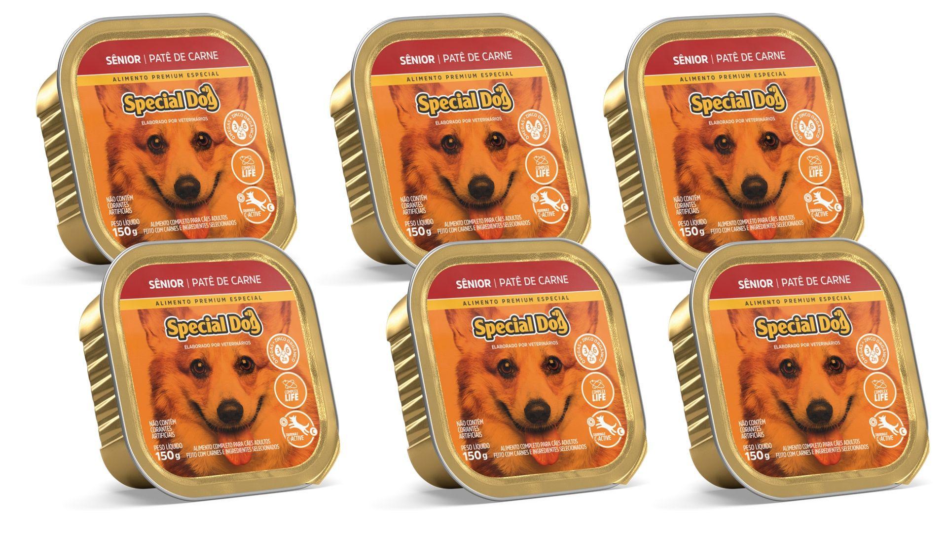 Pate Special Dog CARNE SENIOR Alimento Completo 6 Unidades