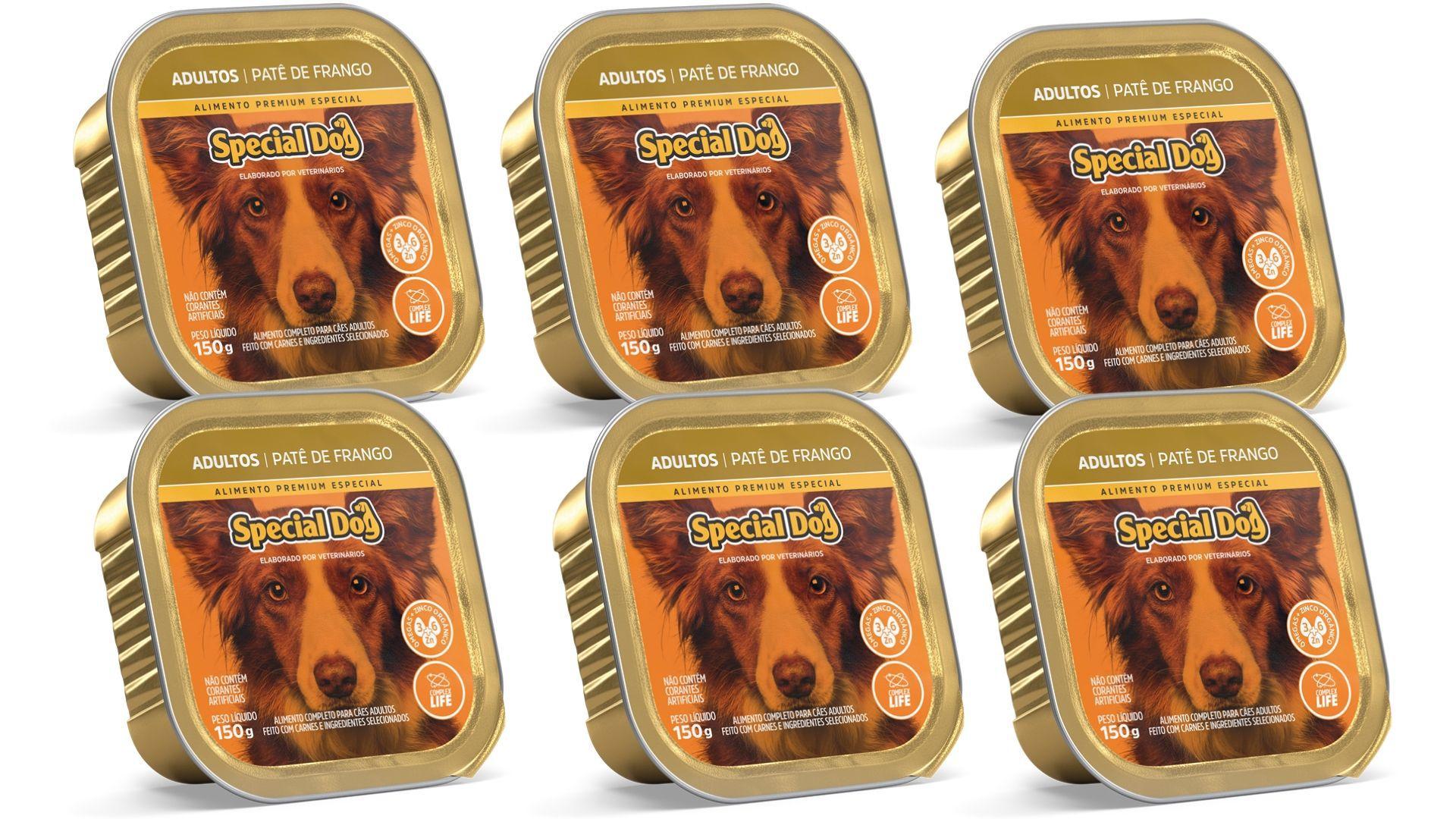 Pate Special Dog FRANGO Adulto Alimento Completo 6 Unidades