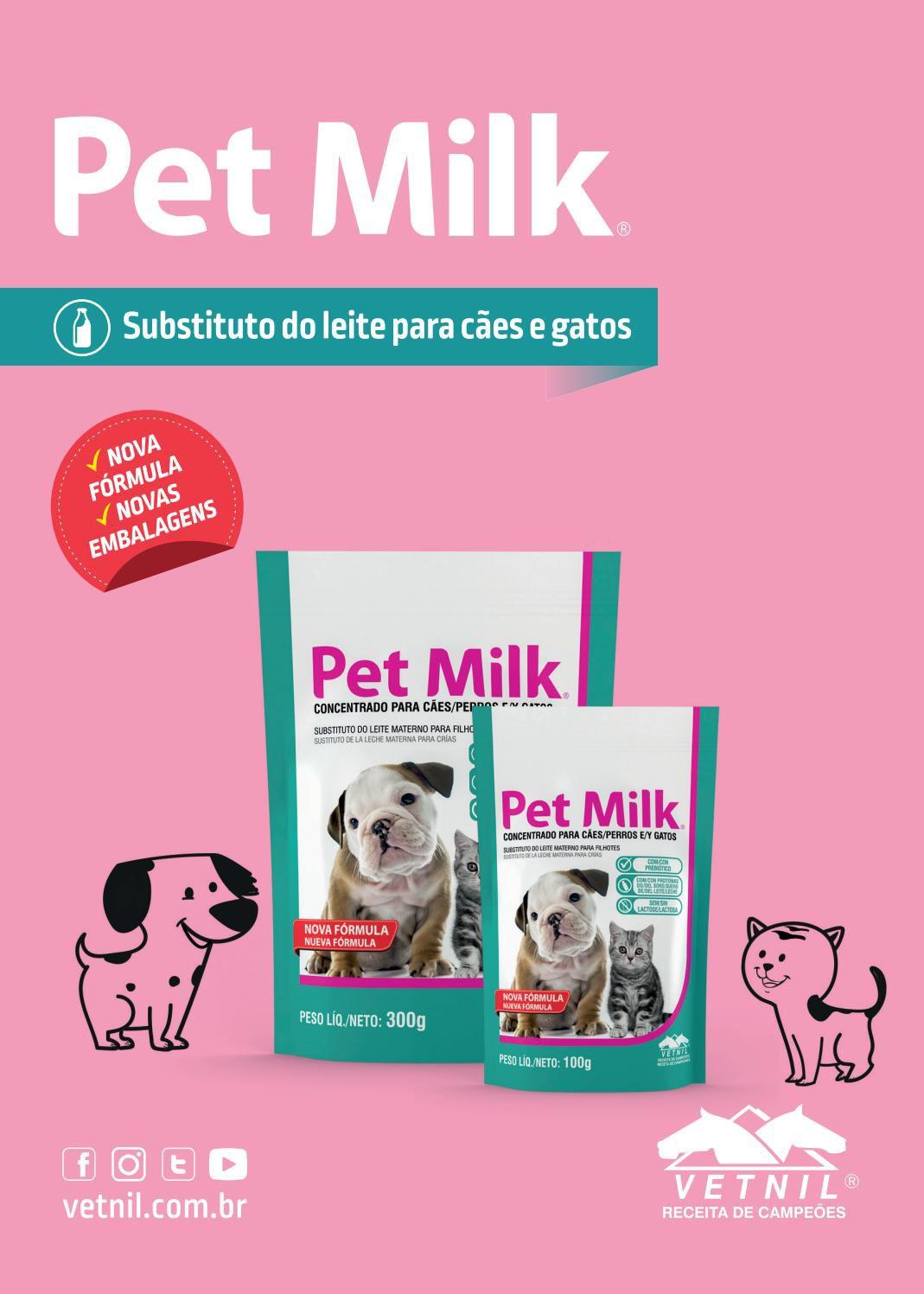 Pet Milk 300g Vetnil Leite Para Cão E Gato + mamadeira