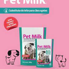 Pet milk com 100 gramas leite para cão e gato filhote + brinde gratis