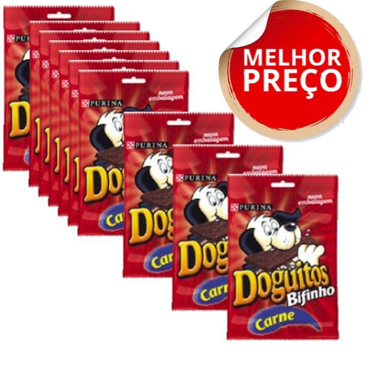 Petisco Nestlé Purina Doguitos Bifinho De Carne Para Cães - 65 G combo c/10 unidades