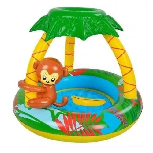 Piscina Infantil Bebê Criança Macaco Macaquinho Inflável