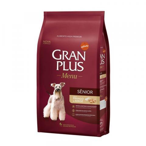 Ração Gran plus Menu Para Cães Sênior Sabor Frango E Arroz -3kg