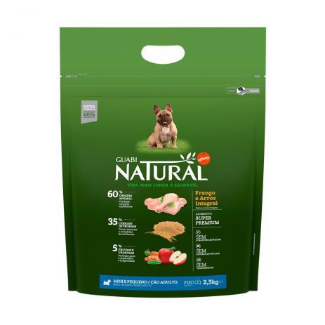 Ração Guabi Natural Cães Adulto Raças Mini E Pequenas Frango 2,5 kg