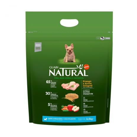 Ração Guabi Natural Cães Filhotes Frango & Arroz - 2,5kg