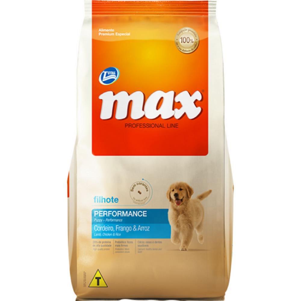 Ração Max Cães Filhotes Cordeiro, Frango E Arroz 15kg