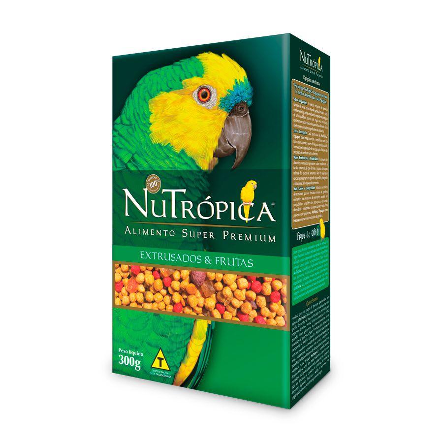 Ração Nutrópica Para Papagaio Sabor Frutas - 300g