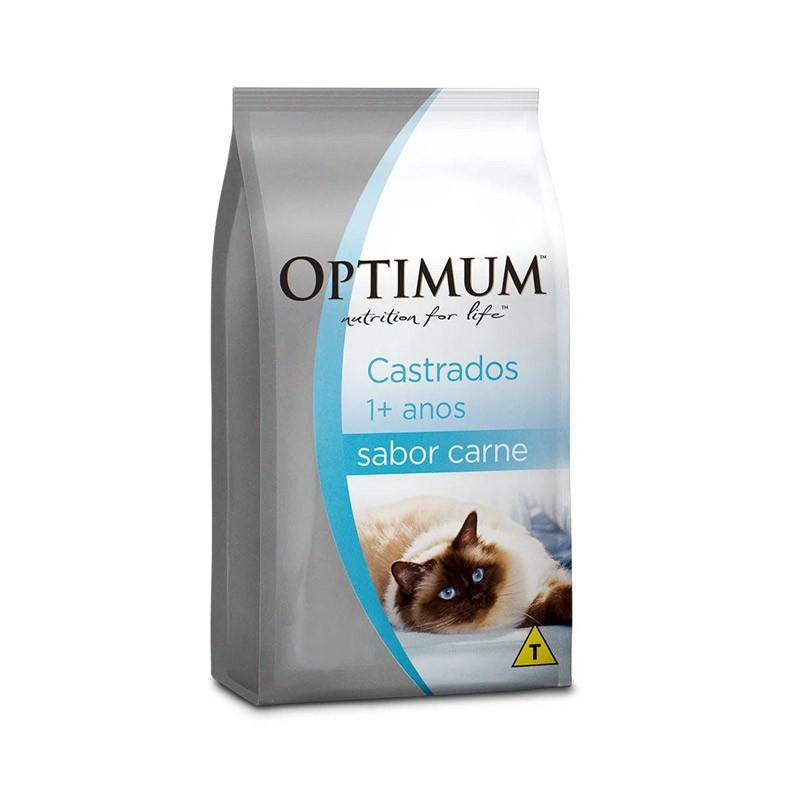Ração Optimum Dry Carne Gatos Adultos Castrados 10kg