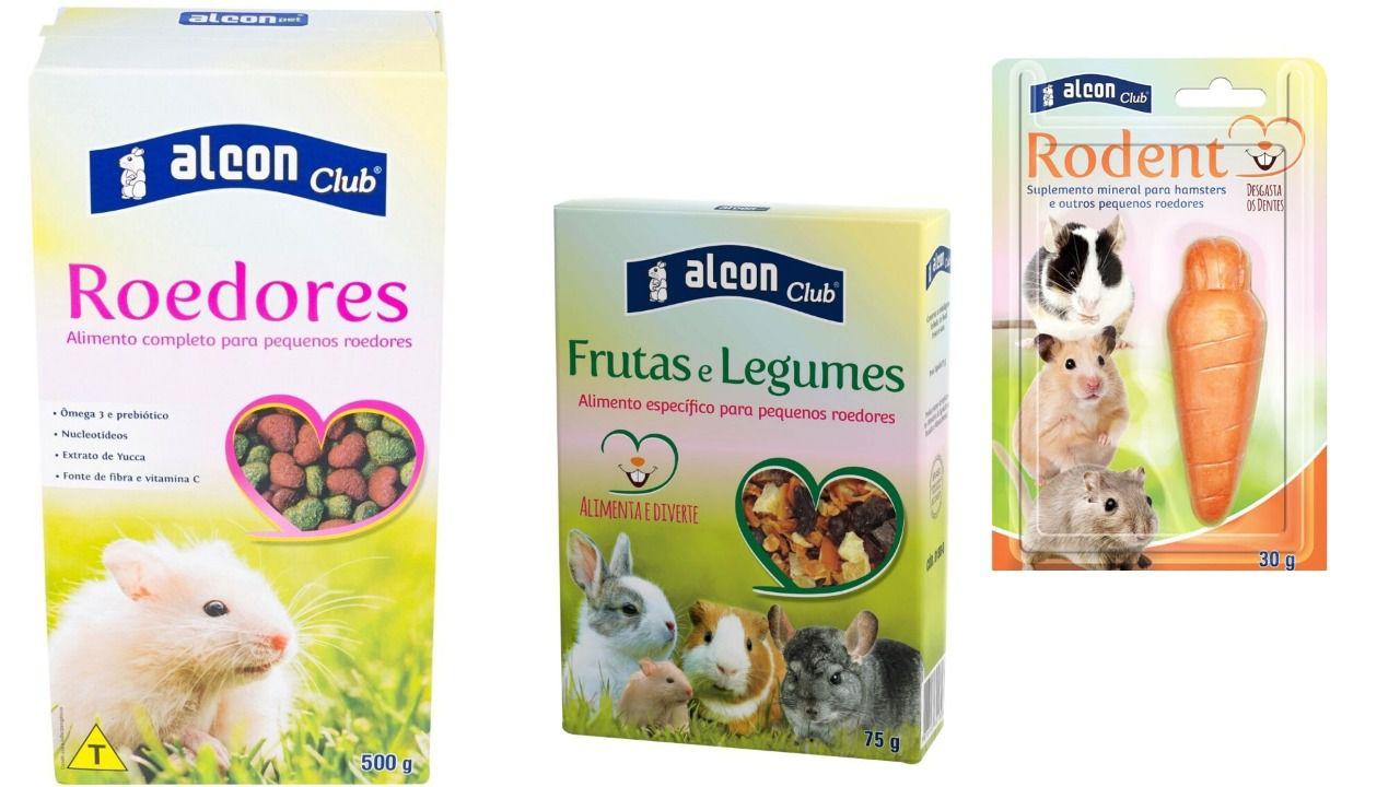 Ração P/ Roedores Rodent+ Frutas E Legumes + Alcon Club 500 gramas