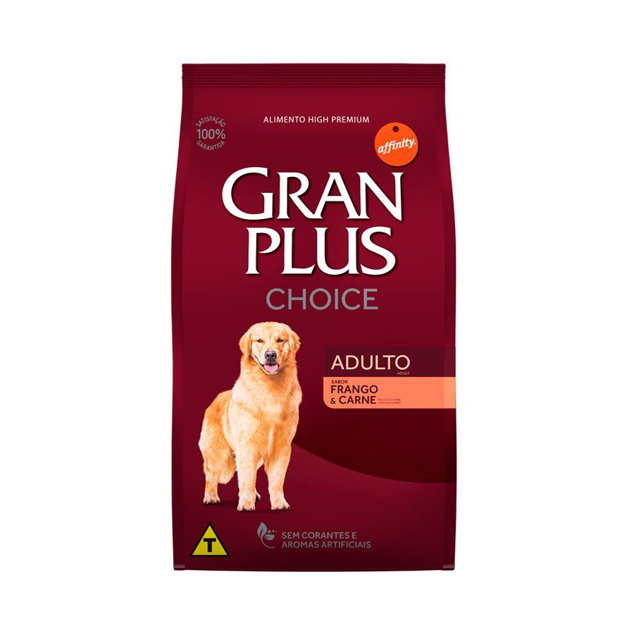 Ração Para Cães Adultos Gran Plus Choice Frango E Carne 15kg