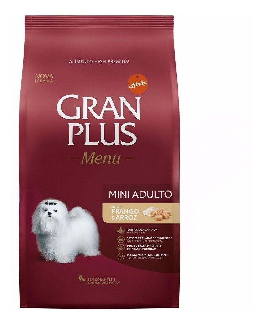 Ração Para Cães Adultos Mini Gran Plus Frango E Arroz 15kg