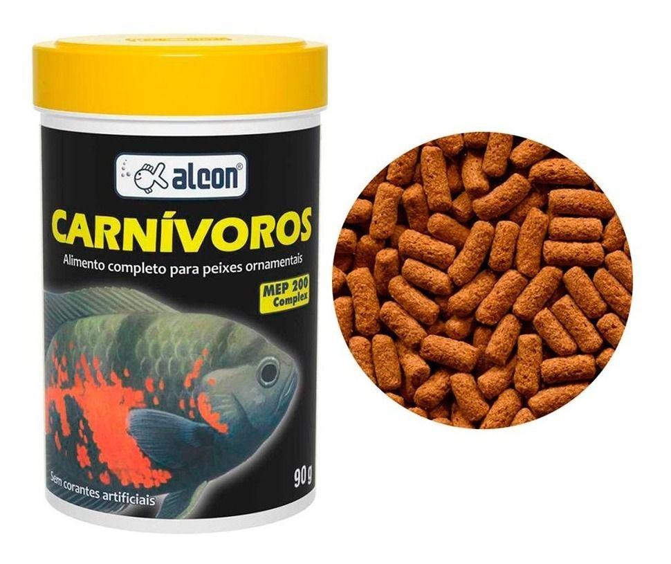 Ração Para Peixes Carnívoros De Água Doce Alcon 90g