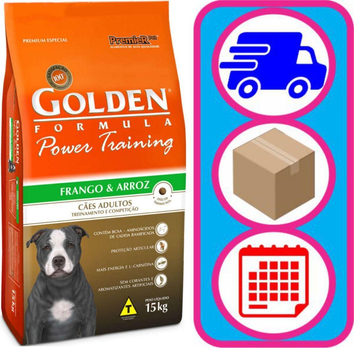 Ração Premier Golden Power Training Cães Adultos 15kg