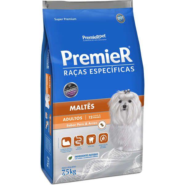 Ração Premier Raças Específicas Maltês Cães Adultos 1kg
