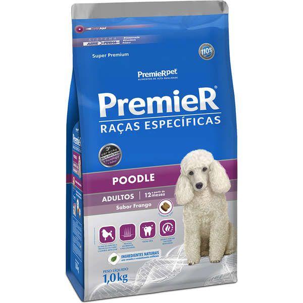 Ração Premier Raças Específicas Poodle Adultos 1 Kg