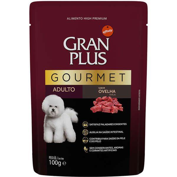 Sachê Gran Plus Gourmet Ovelha para Cães Adultos combo com 12 unidades