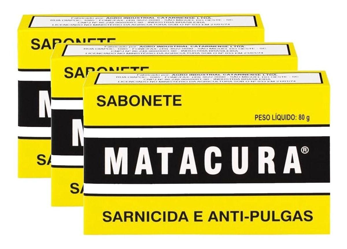 Sabonete matacura 80 gramas com com 3 unidades
