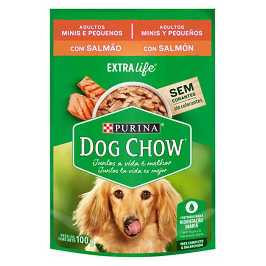 Sachê Dog Chow Cães adulto pequeno porte  sabor  salmão 12 unidades