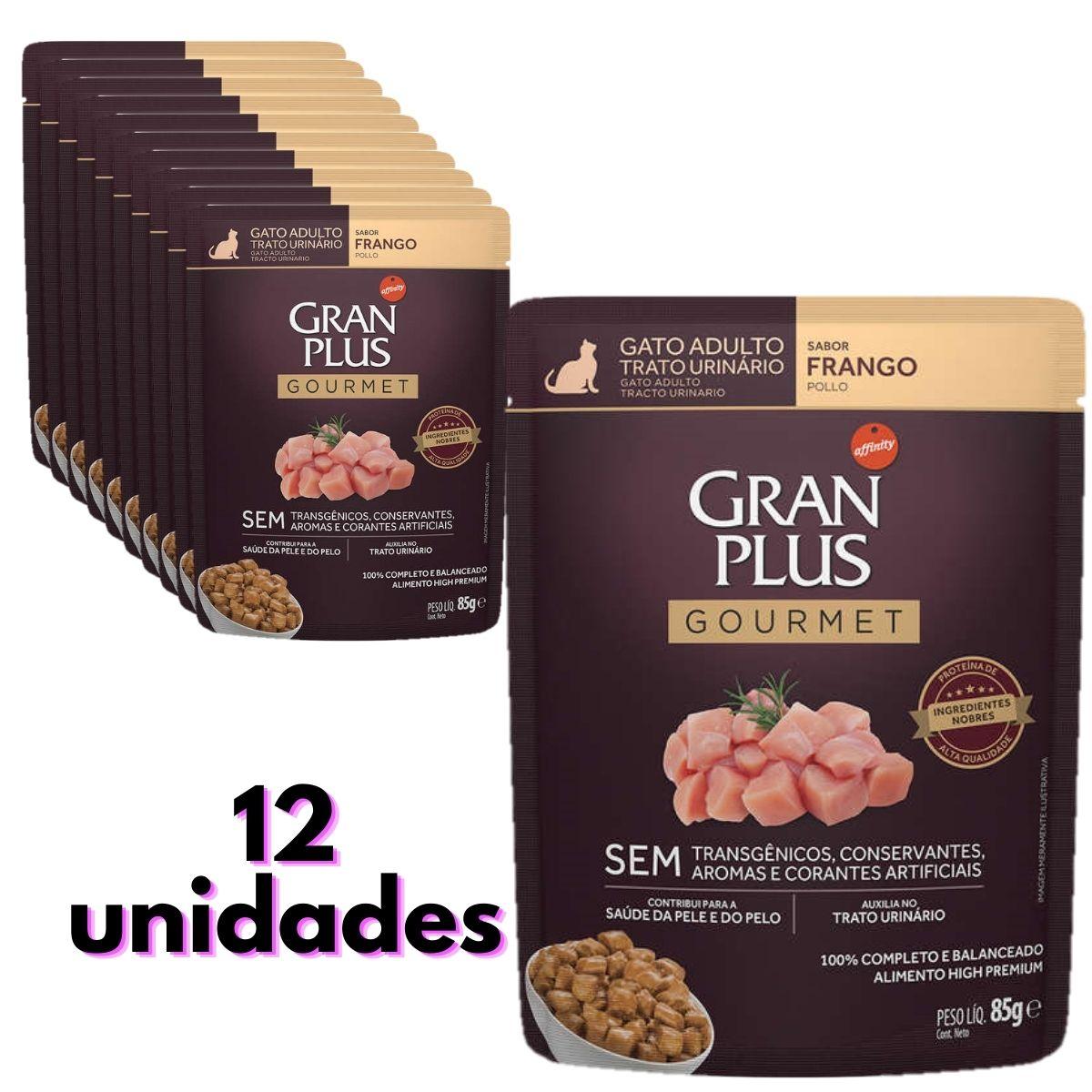 sache gran plus gato trato urinário sabor frango  com 12 unidades