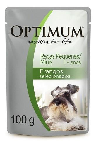 Sachês Cães Adulto Raças Pequenas Optimum  Frango 10 unid