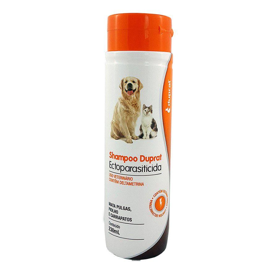 Shampoo Carrapaticida Cão Duprat + escova dupla para cão ou gato