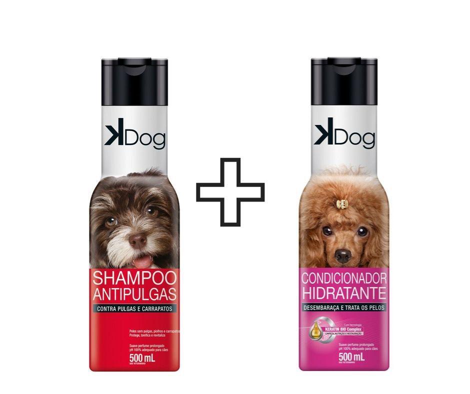 Shampoo K-dog Antipulgas + condicionador cães