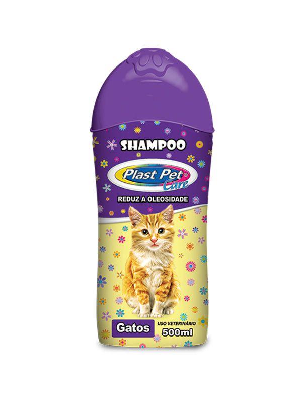 Shampoo Plast pet para gato + talco banho a seco para gato