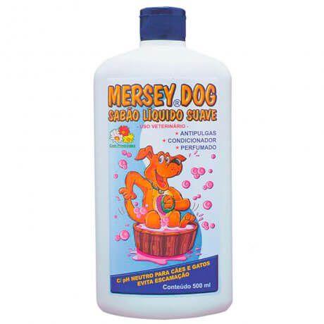Shampoo Sabão Líquido Antipulgas Mersey 500ml