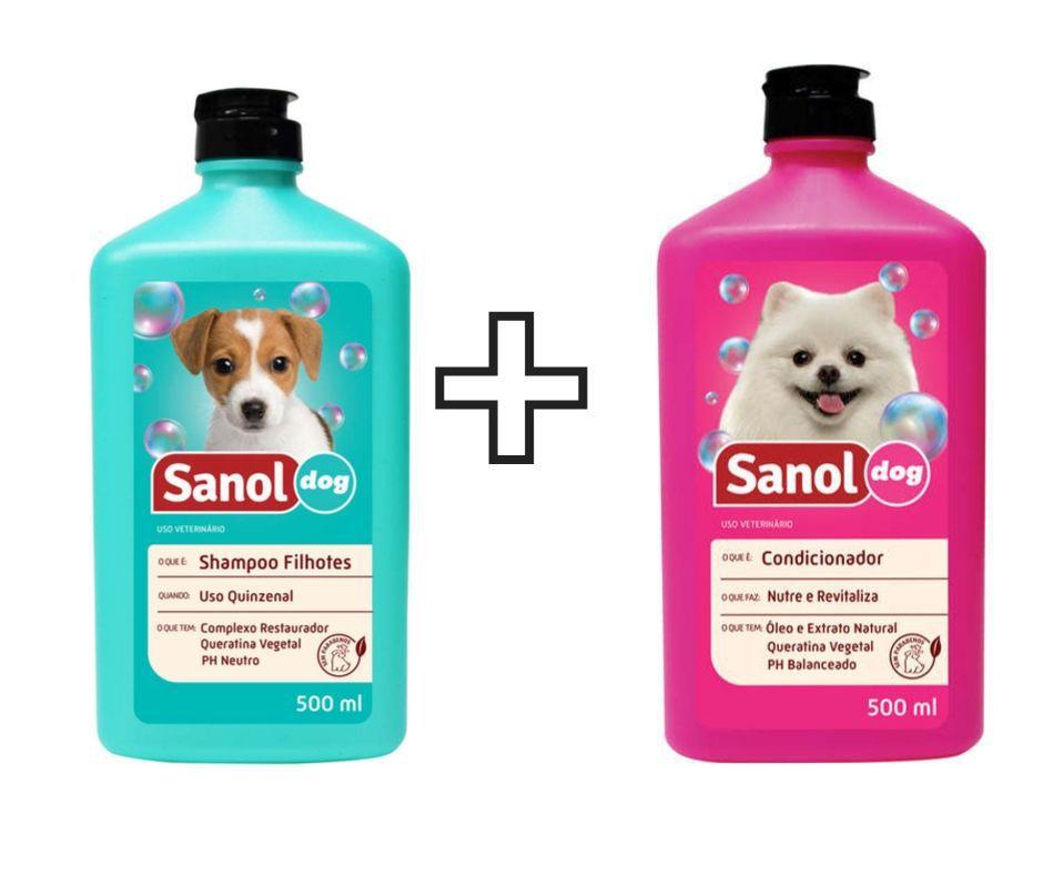 Shampoo Sanol para filhote + Condicionador