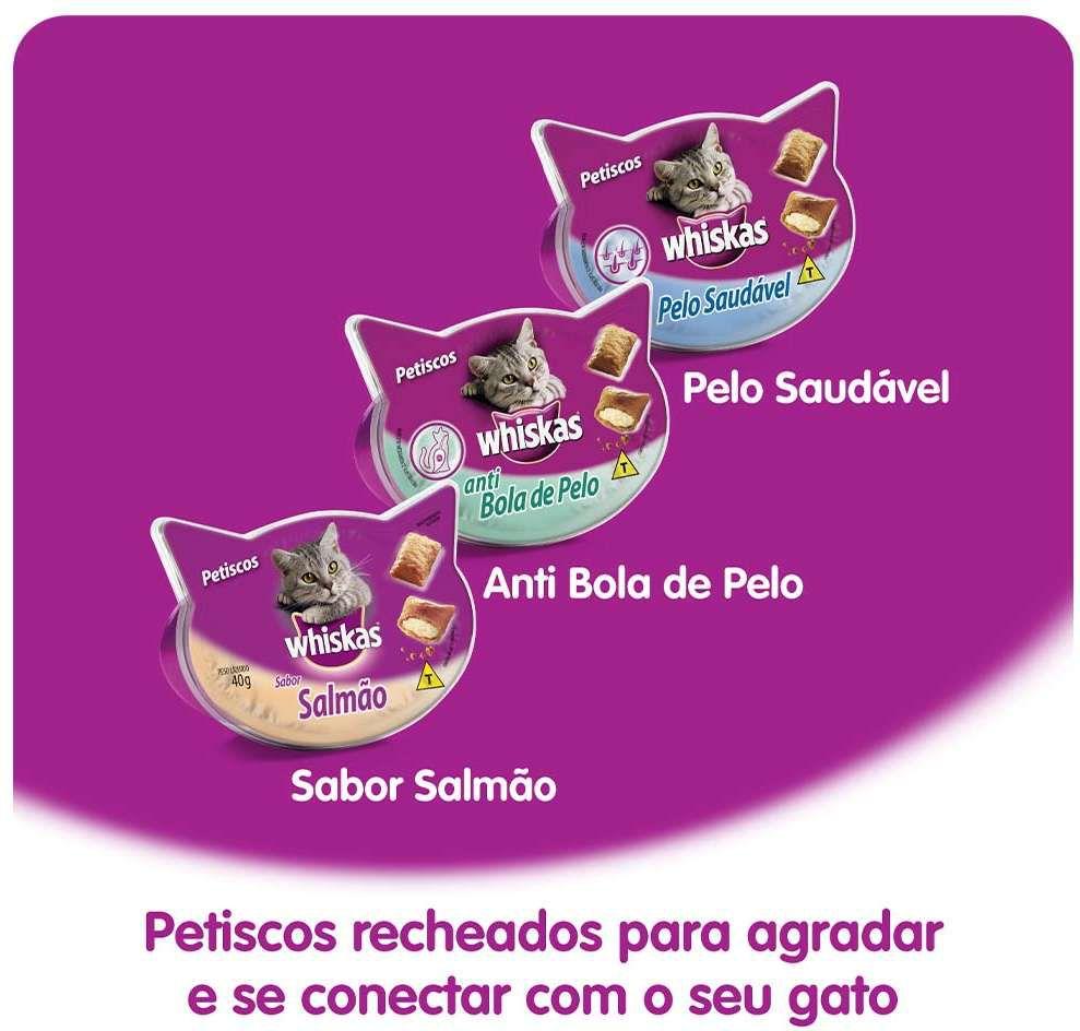 Temptations Salmão - 40gr combo com  6 Unidades Petisco para Gato