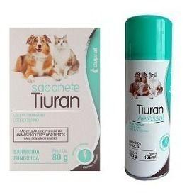 Tiuran  Aerosol com 125 ml +  Sabonete 80g  Duprat kit