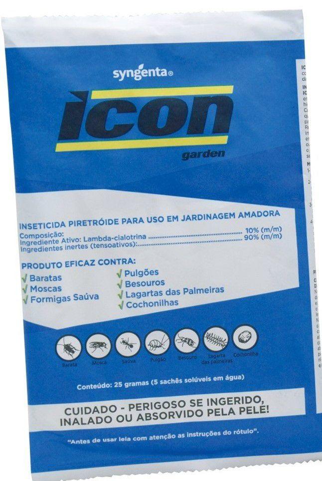 Veneno Icon garden inseticida lagarta pulgao mosca barata combo com 3 unidades