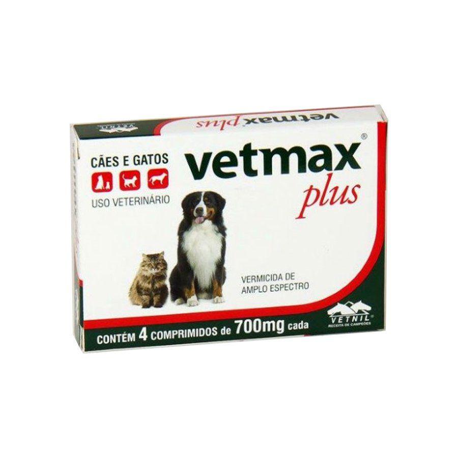 Vermífugo Vetmax Plus Comprimido caixa com 4 comprimidos