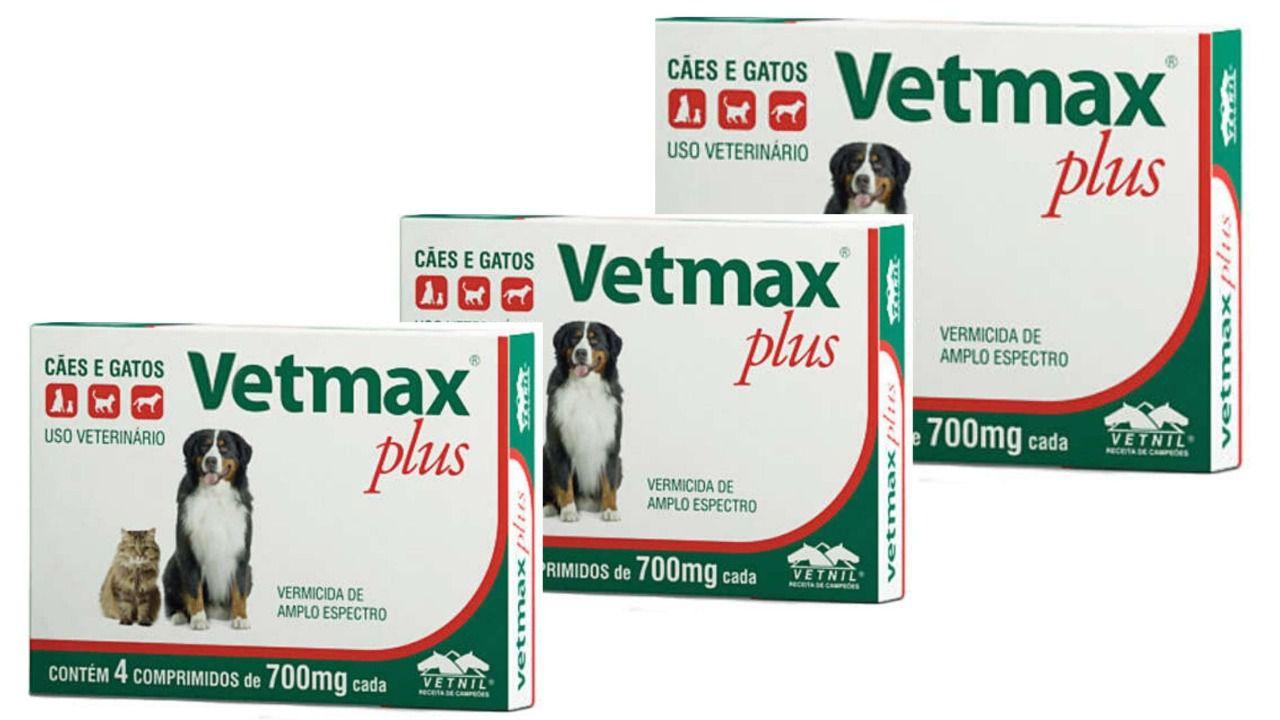Vetmax Combo 3 Caixas - 12 Comprimidos Verme De Cachorro