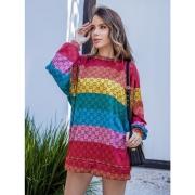 Blusão Vestido Malha Lãzinha