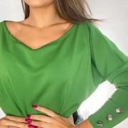 Body Ombro a Ombro em Neoprene Verde