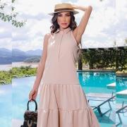 Vestido Malha Piquet Encorpada