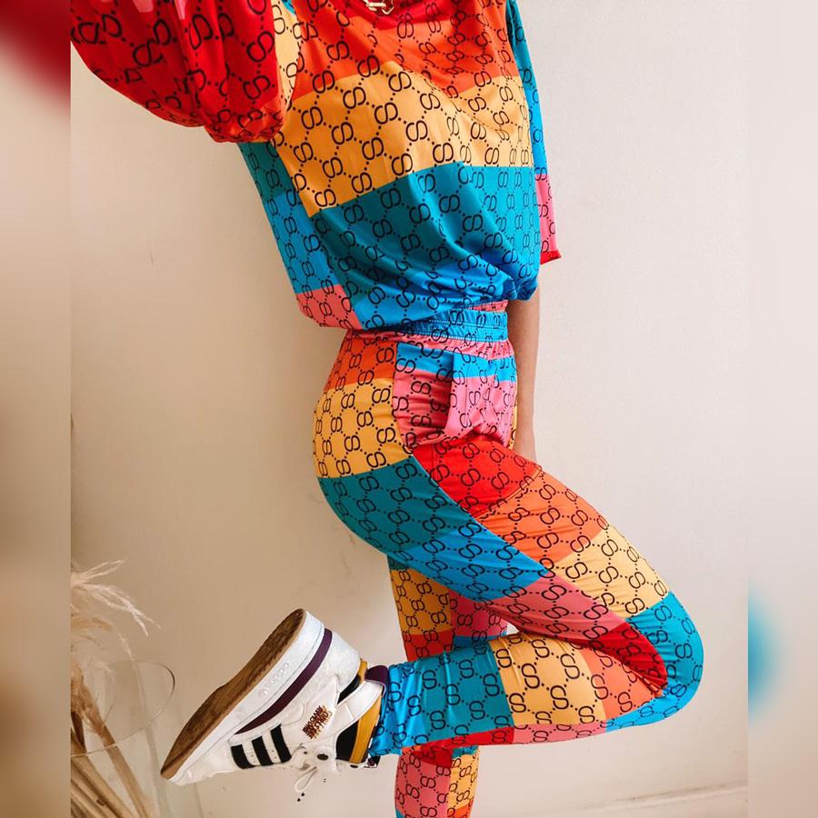 Conjunto Legging e Blusa Colors Fluit Estampado
