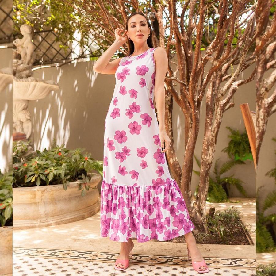 Vestido Babado em Fluit Estampa Floral Summer