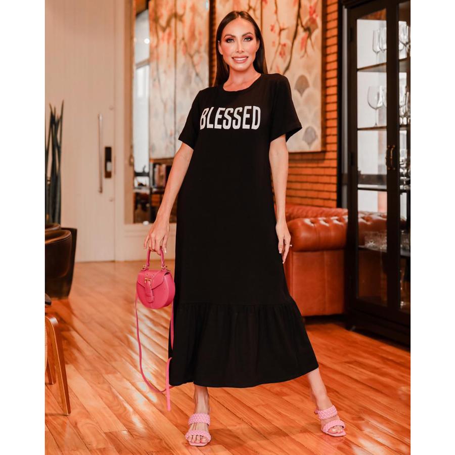 Vestido Blessed Comfy em Moletinho