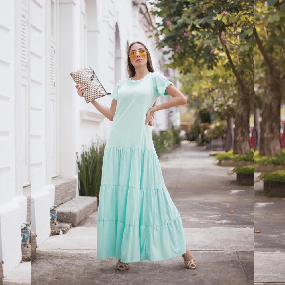 Vestido Camisetão Malha Penteada